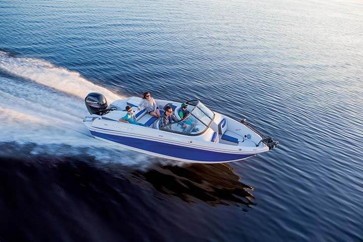 Taho sport boats 550 tf ski fish waylen bay marine stuart for Tahoe sport fishing